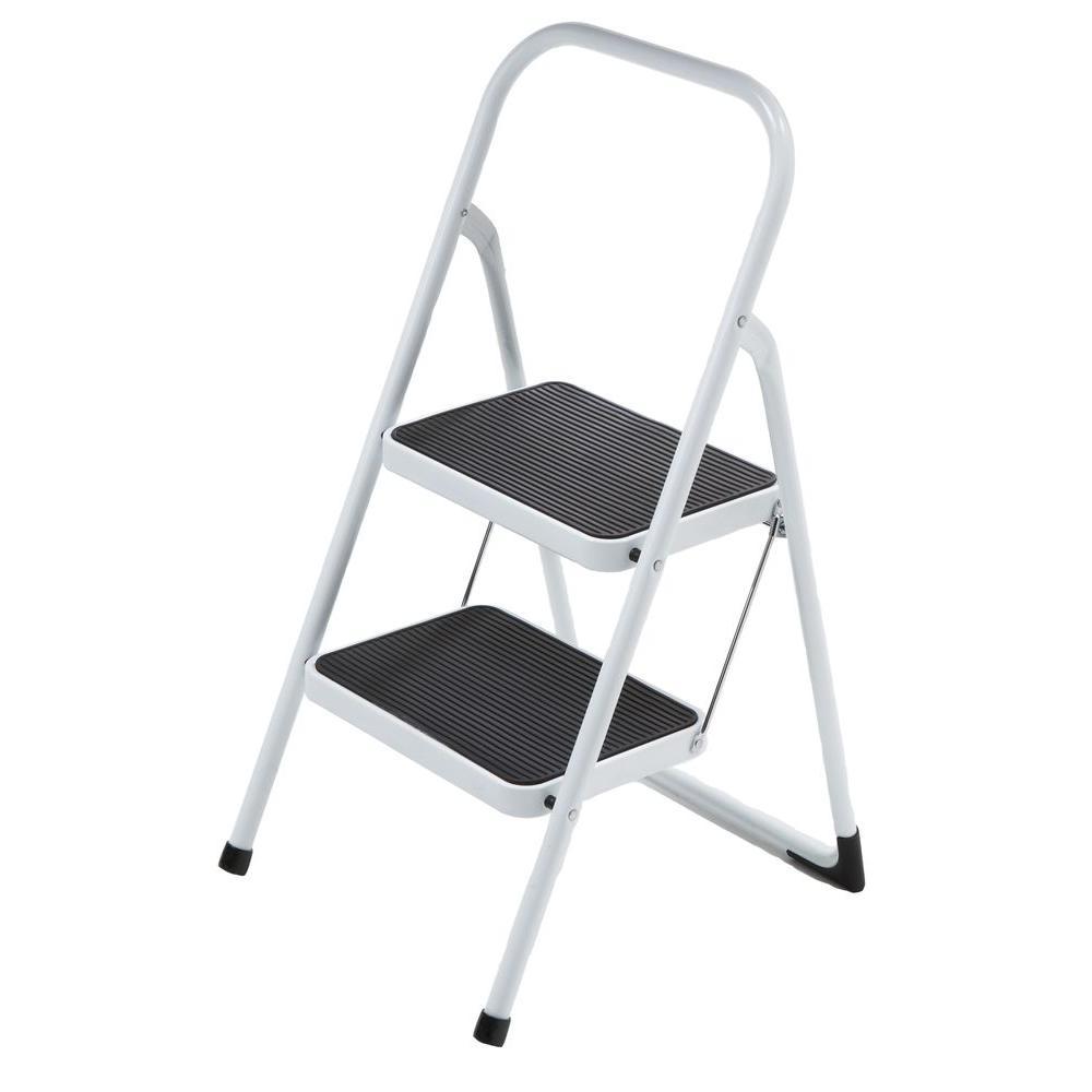 null 2-Step Highback Steel Step Stool Ladder-DISCONTINUED