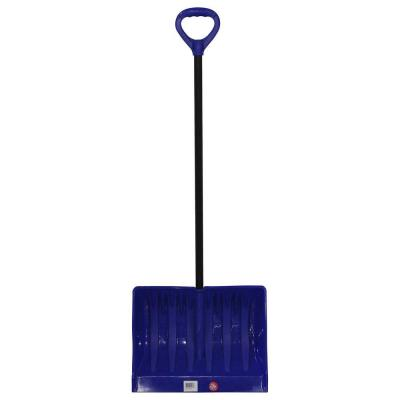 Bigfoot Series 19 in. Mega Combination Poly Snow Shovel with Metal Handle
