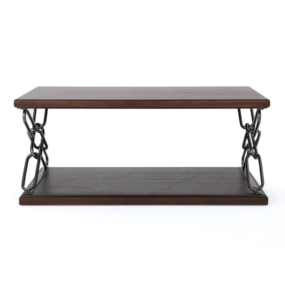 Milah Dark Walnut Wood Coffee Table