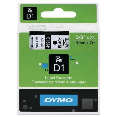 D1 High-Performance Polyester Removable Label Tape, 3/8 in. x 23 ft. Black on White