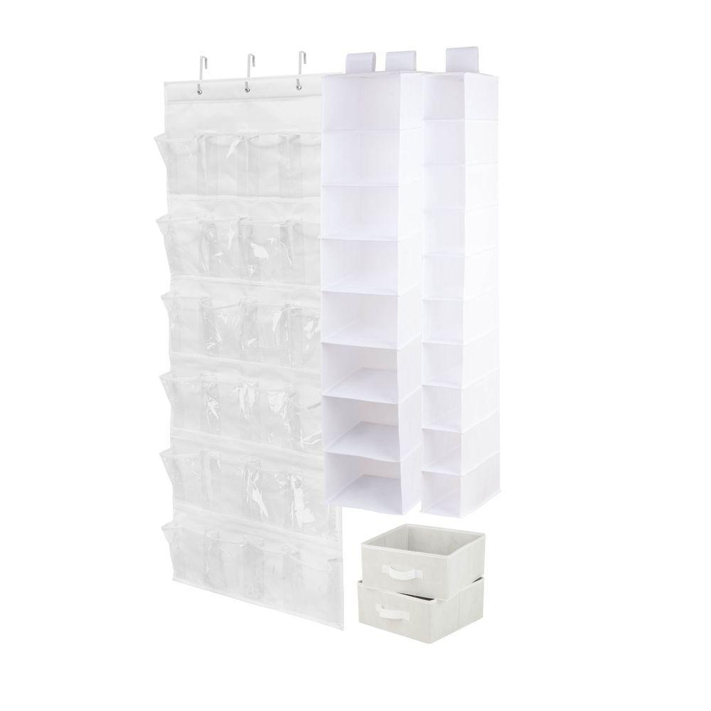 4-Piece White Closet Organization Set