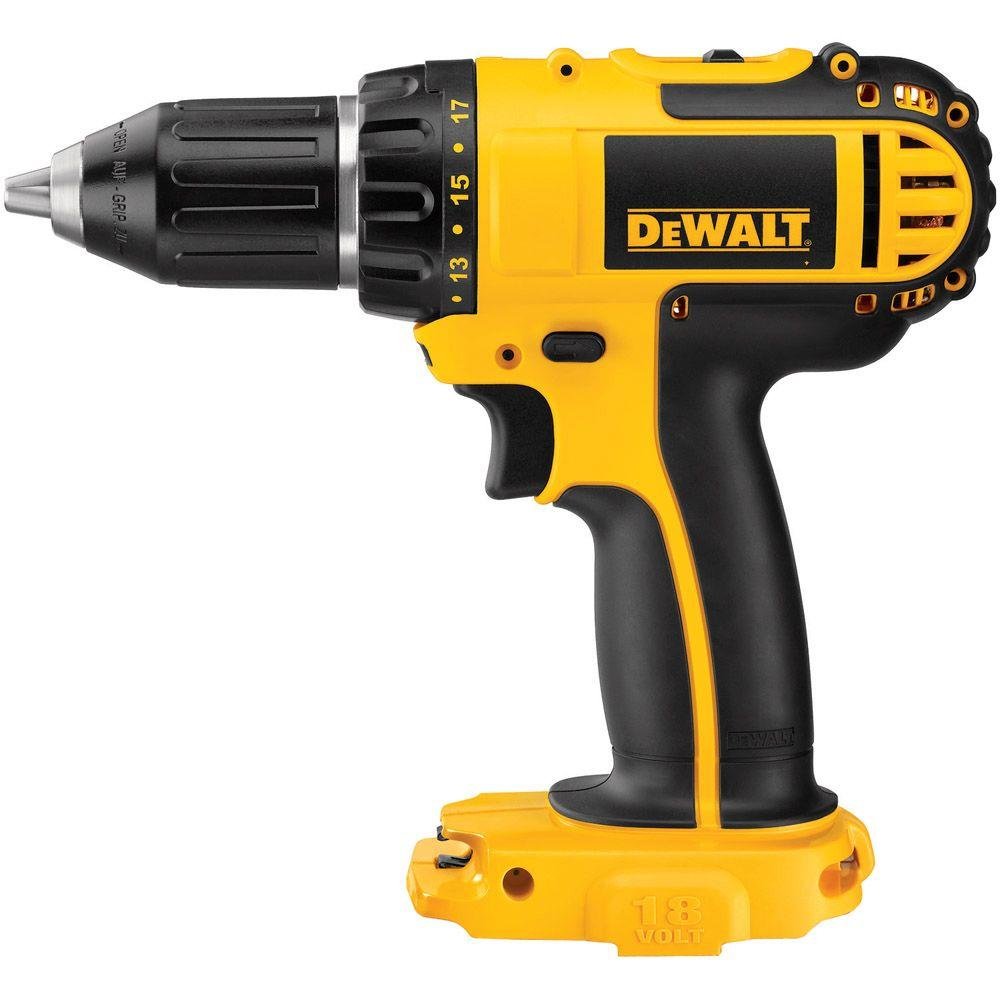 DEWALT 18-Volt Lithium-Ion Cordless 1/2 in. (13 mm) Compact Drill/Driver (Tool-Only)