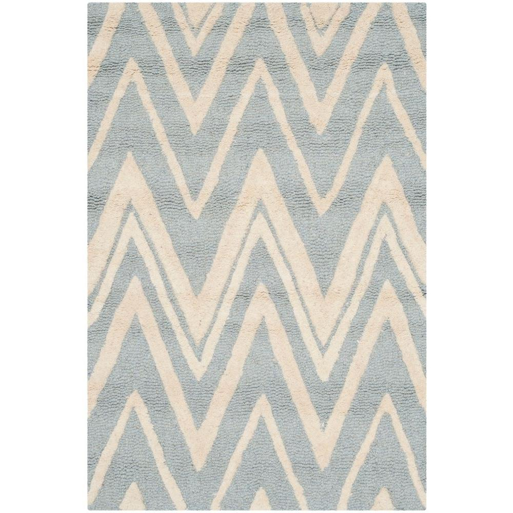 Cambridge Blue/Ivory 2 ft. 6 in. x 4 ft. Area Rug