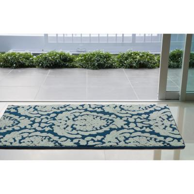 Dominique 30 x 50 in. Loop Accent Rug, Peacock Blue/Mineral Blue
