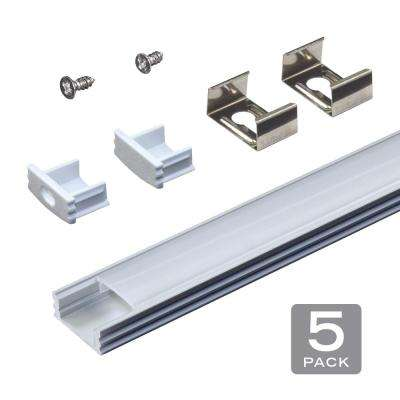 RibbonFlex Aluminum LED Tape Light Flat Channel and Diffuser System Mounting Hardware (5-Pack)