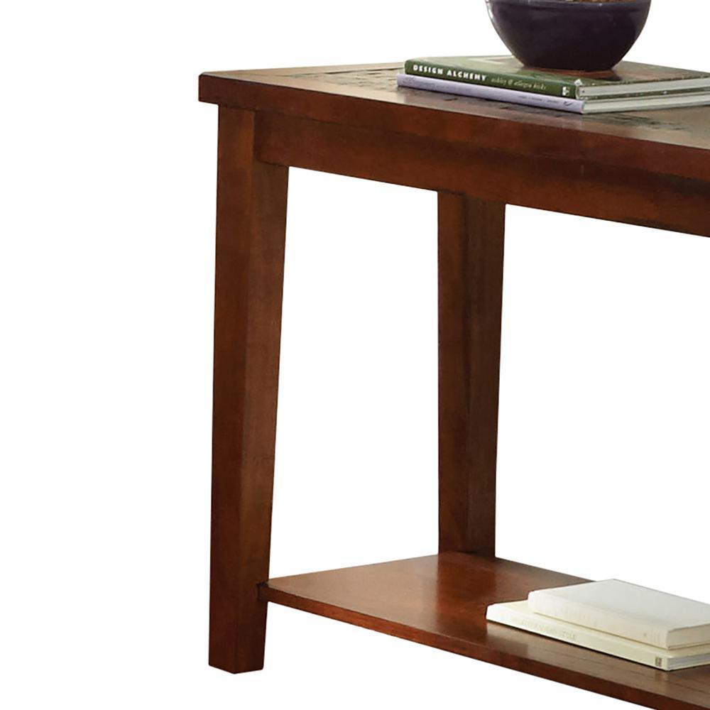 Brilliant Davenport Brown Cherry Sofa Table Customarchery Wood Chair Design Ideas Customarcherynet