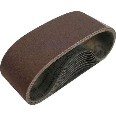 3 in. x 21 in. 60-Grit Abrasive Belt (10-Pack)