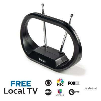 Modern Loop HDTV Antenna Full HD 1080P 4K Ready Extendable Dipoles