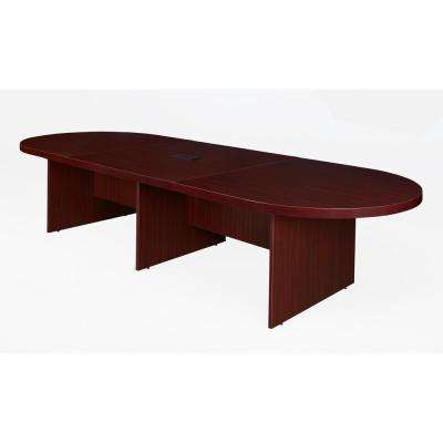 Legacy 144 in. Mahogany Modular Racetrack Conference Table with Power Data Grommet