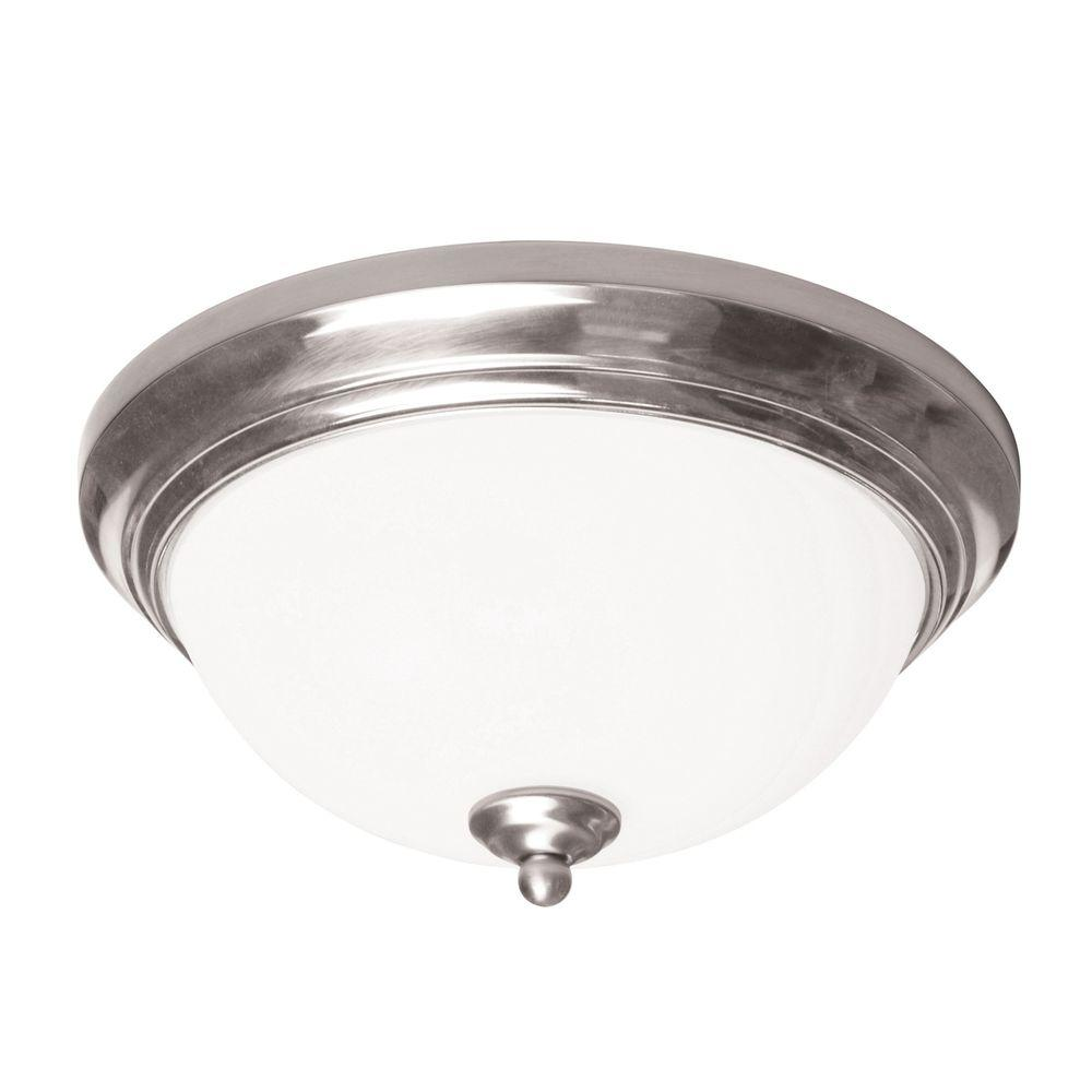 Radionic Hi Tech Orly Satin Nickel Flush Mount