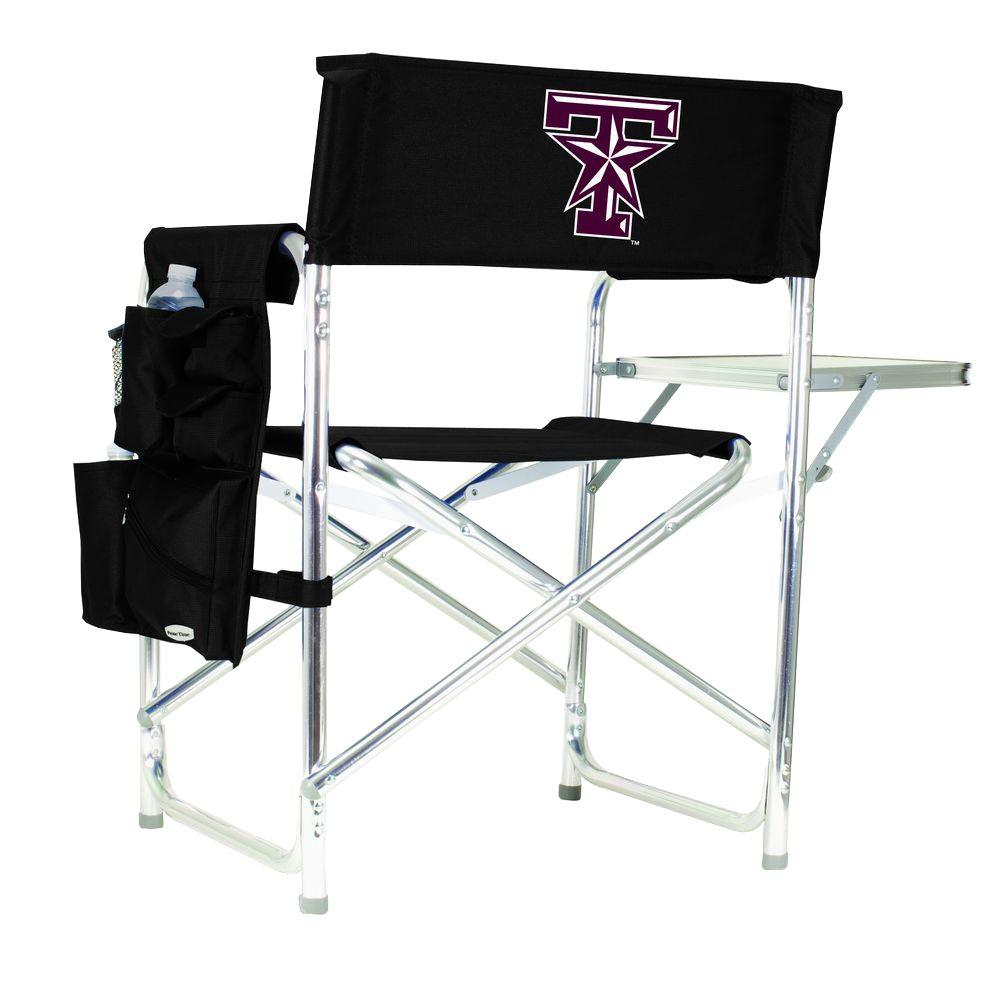 Picnic Time Texas A&M University Black Sports Chair with Embroidered Logo