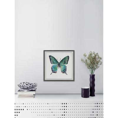 "40 in. H x 40 in. W ""Watercolor Butterfly"" by Marmont Hill Art Collective Framed Printed Wall Art"