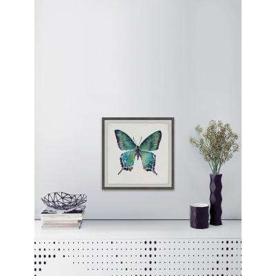 """40 in. H x 40 in. W """"Watercolor Butterfly"""" by Marmont Hill Art Collective Framed Printed Wall Art"""
