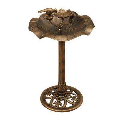 32 in. Resin Birdbath with Bronze Finish
