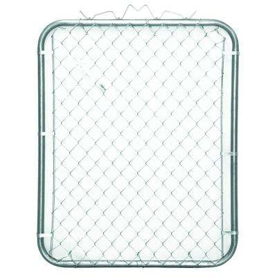 38 in. W x 48 in. H Galvanized Steel Bent Frame Walk-Through Chain Link Fence Gate