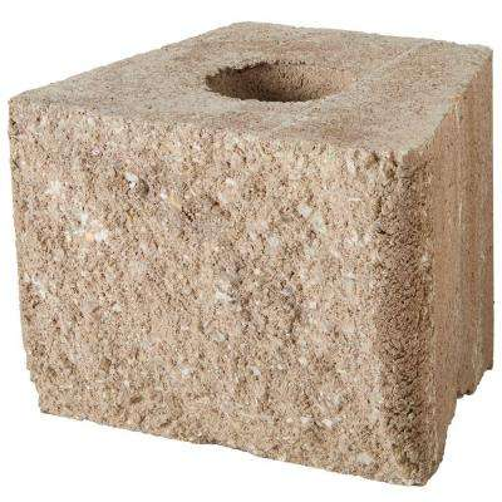 RockWall Medium 6 in. x 7.75 in. x 7 in. Pecan Concrete Retaining Wall Block (96 Pcs. / 31 Face ft. / Pallet)
