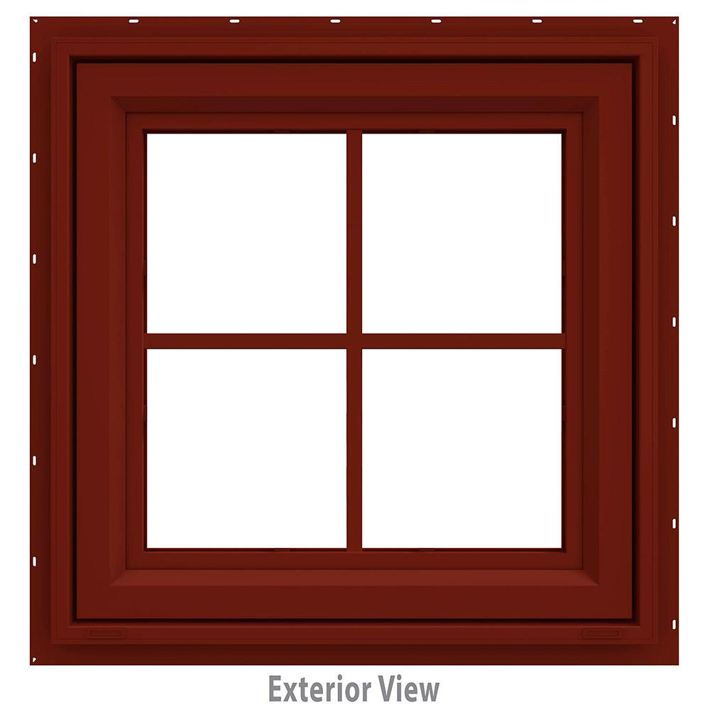 23.5 in. x 23.5 in. V-4500 Series Awning Vinyl Window with