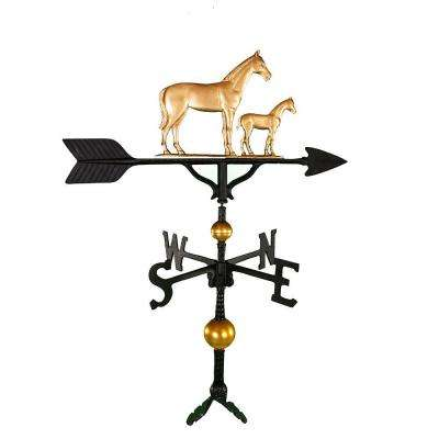 32 in. Deluxe Gold Mare and Colt Weathervane