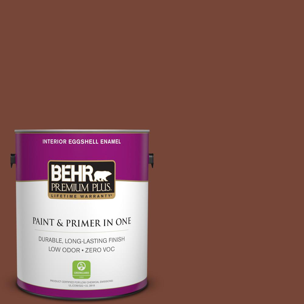 BEHR Premium Plus 1-gal. #S200-7 Earth Fired Red Eggshell Enamel Interior Paint