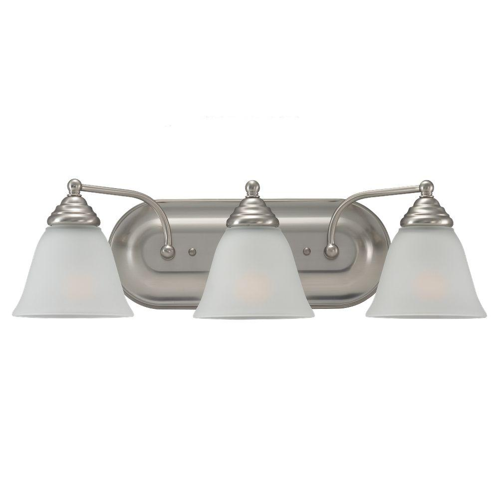 Sea Gull Lighting Albany 3-Light Brushed Nickel Vanity Fixture