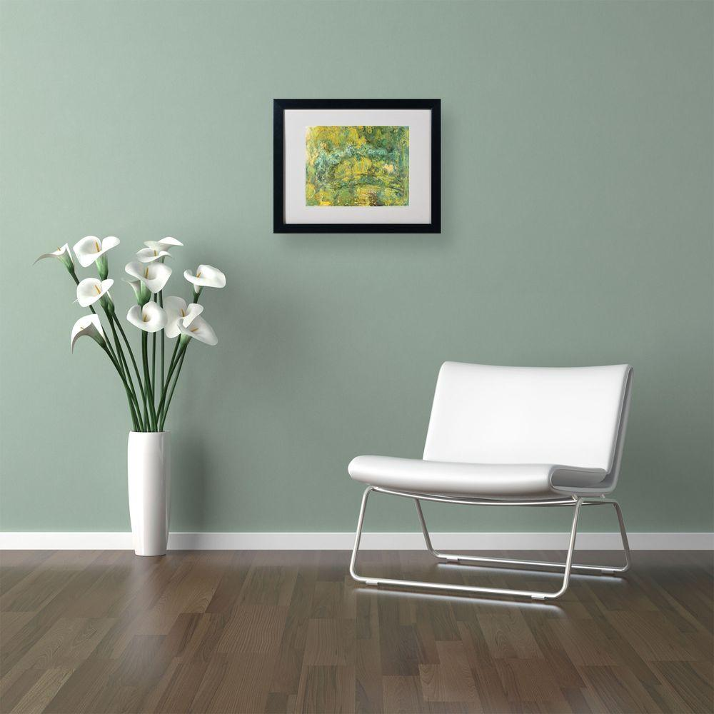 11 in. x 14 in. Passage on Waterlily Pond Matted Black