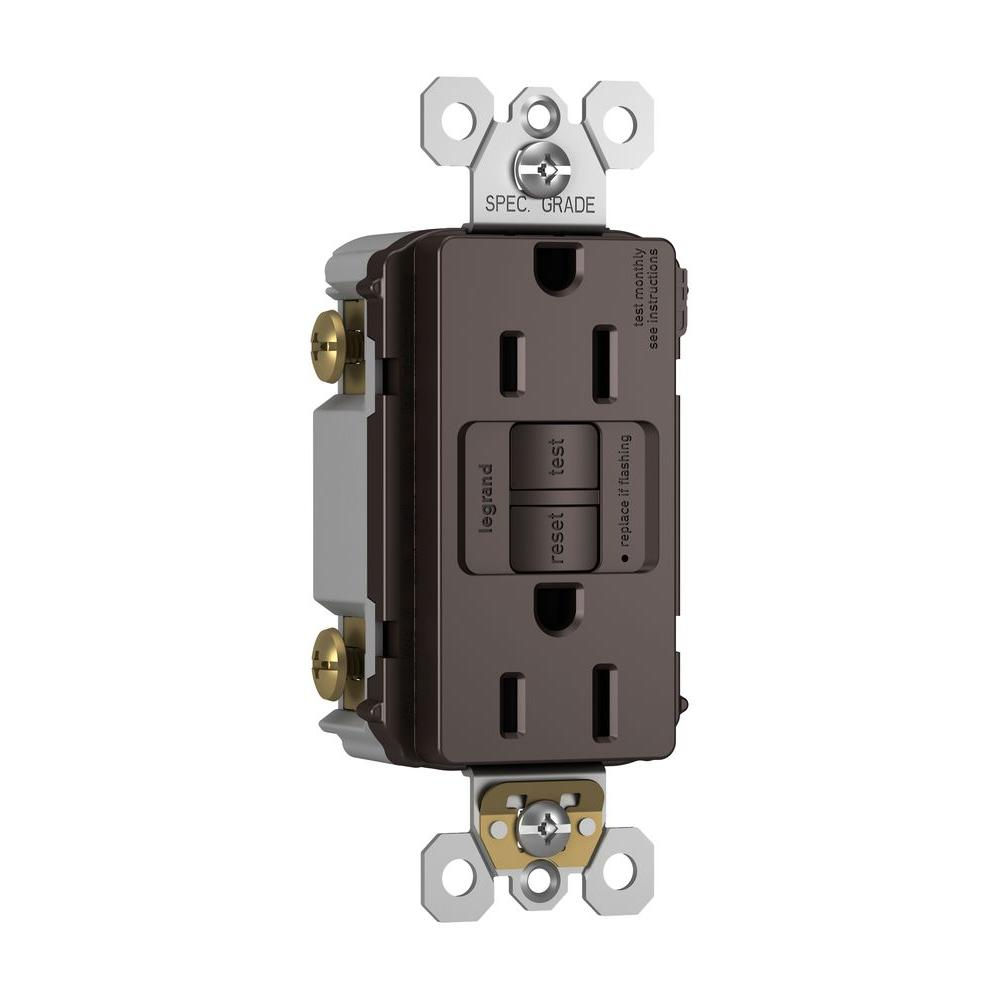 leviton 15 amp compact right angle plug in gfci black r51 16693 thd 15 amp 125 volt 2 outlet self test gfci dark bronze