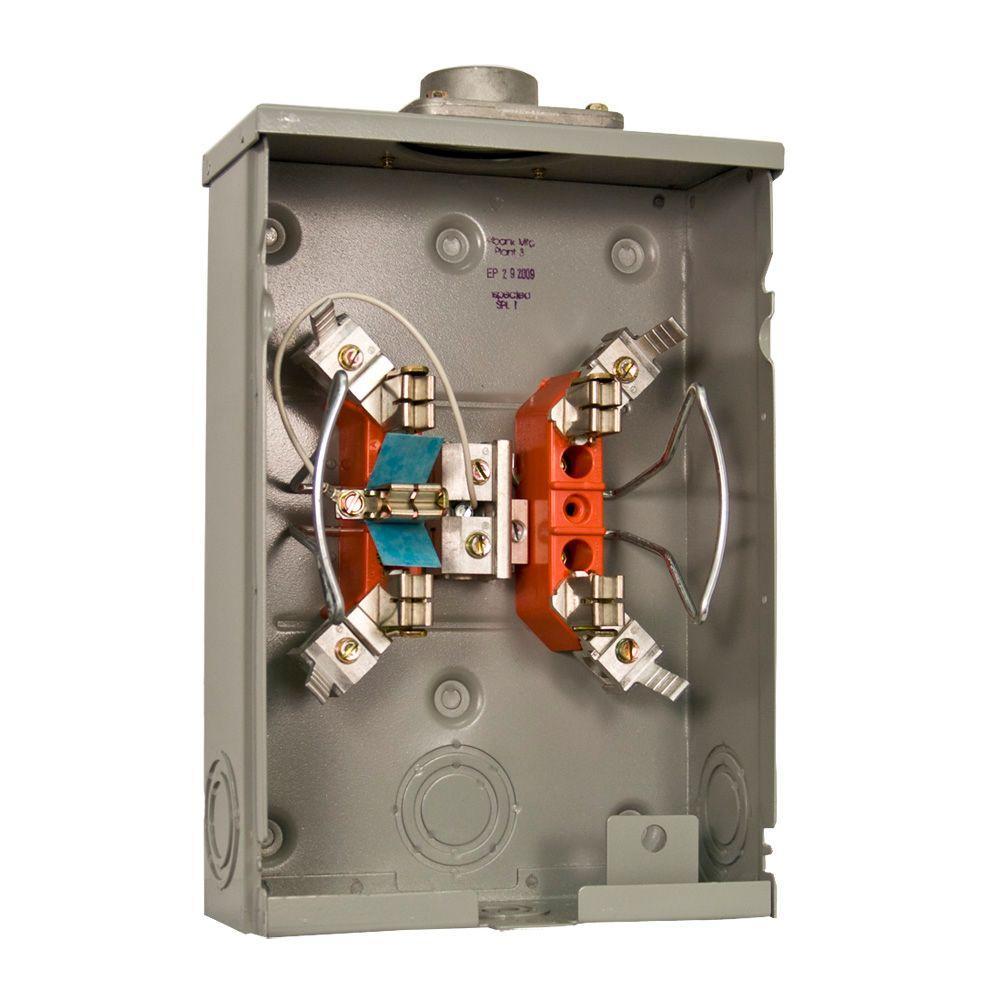 125 Amp 5-Terminal Ringless Overhead/Underground Horn Bypass Meter Socket