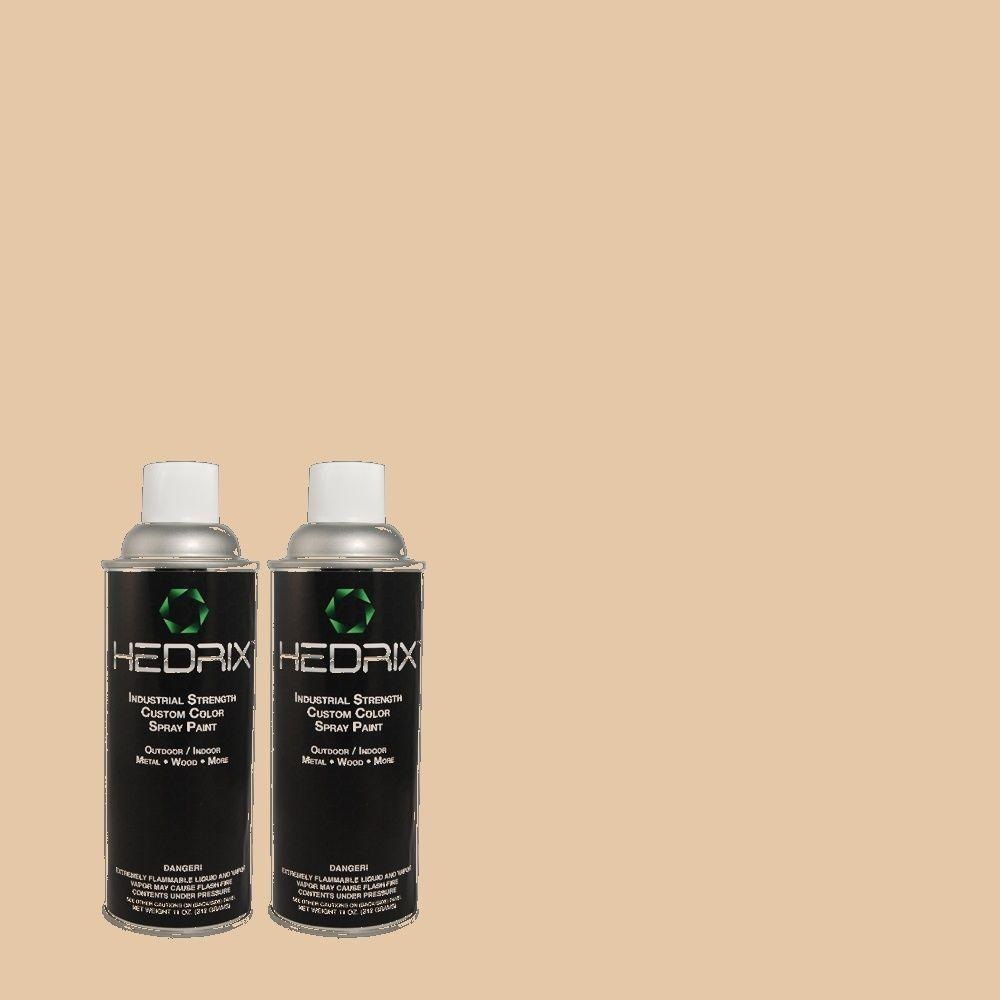 Hedrix 11 oz. Match of PPU3-8 Sienna Dust Gloss Custom Spray Paint (8-Pack)
