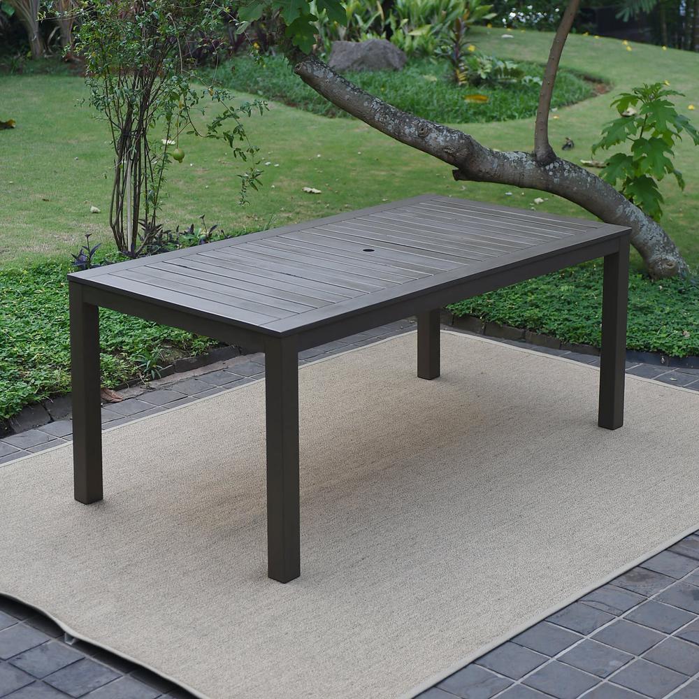 Braga Rectangular Wood Outdoor Dining Table