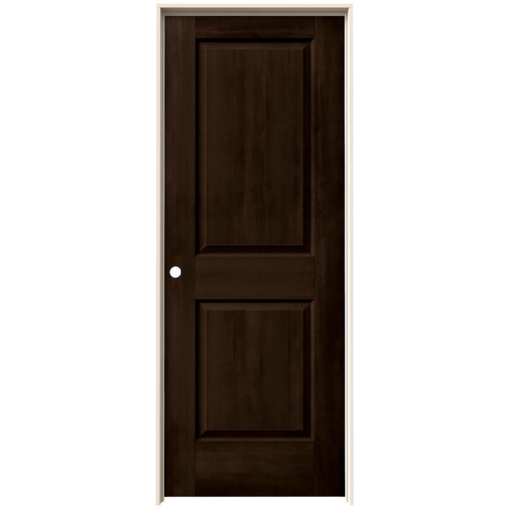 Jeld Wen 24 In X 80 In Cambridge Espresso Stain Right Hand Solid Core Molded Composite Mdf