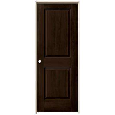 24 in. x 80 in. Cambridge Espresso Stain Right-Hand Solid Core Molded Composite MDF Single Prehung Interior Door
