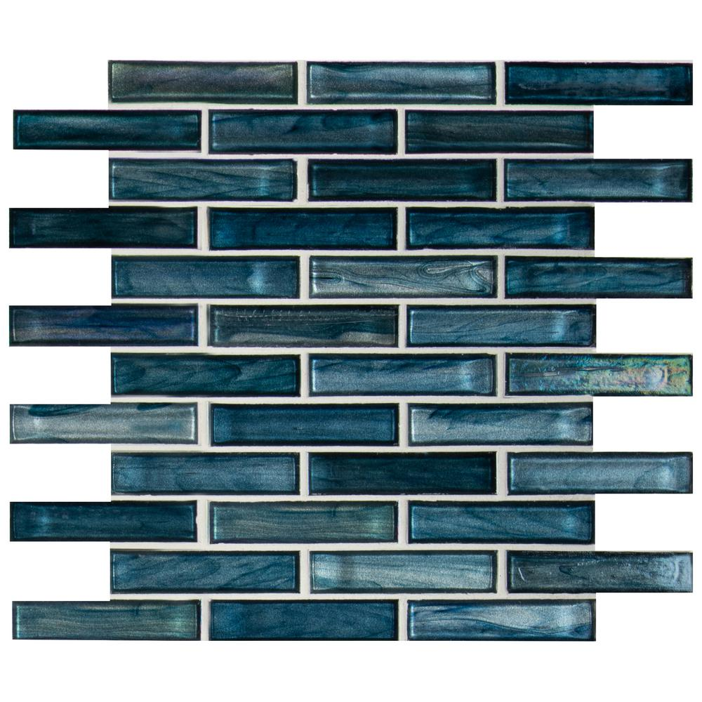 MSI Oasis Blast 12 in. x 12 in. x 6 mm Glass Mesh-Mounted Mosaic Tile (15 sq. ft./case)