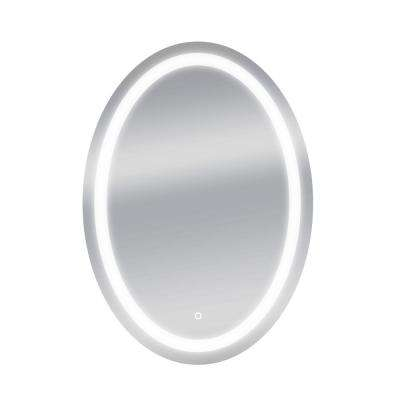 30 in. W x 42 in. H Oval Round LED Backlit Vanity Bathroom LED Mirror with Touch On/OFF Dimmer and Anti-Fog Function
