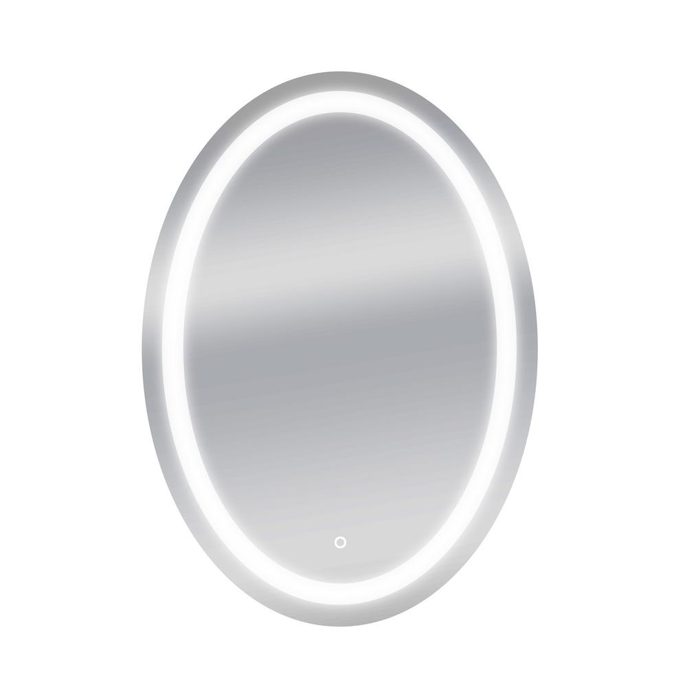 30 in. W x 42 in. H Oval Round LED Backlit