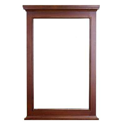 Elite Stamford 24 in. W x 36 in. H Framed Wall Mounted Vanity Bathroom Mirror in Teak