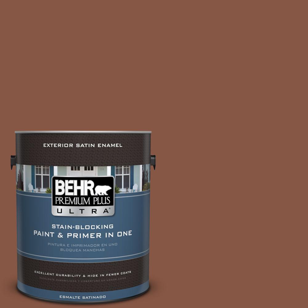 BEHR Premium Plus Ultra 1-gal. #S210-7 October Leaves Satin Enamel Exterior Paint