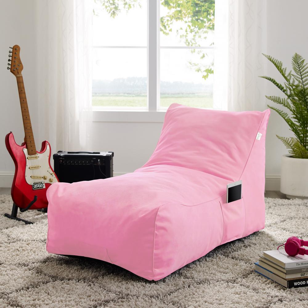 Loungie Resty Pink Nyon Bean Bag Chair BB146-28PK-HD - The ...