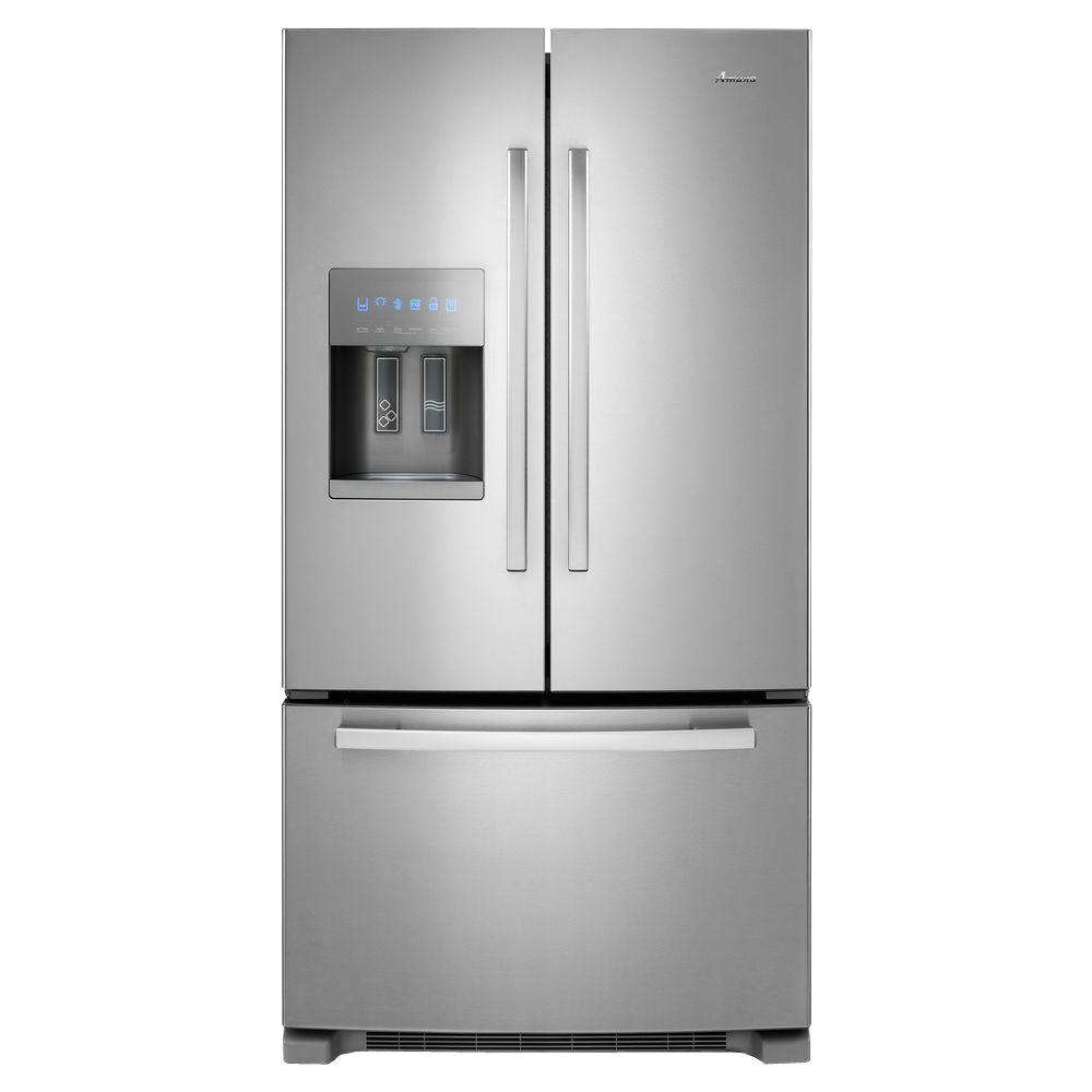 amana 24 7 cu ft french door refrigerator in stainless. Black Bedroom Furniture Sets. Home Design Ideas
