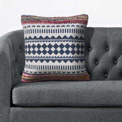 Bohemian Southwest 18 in. x 18 in. Multi Color Throw Pillow