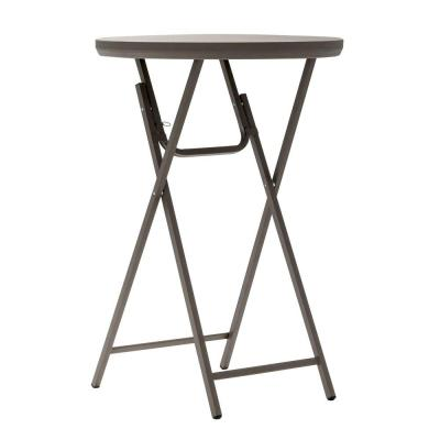 30 in. Brown Plastic Folding Cocktail Table