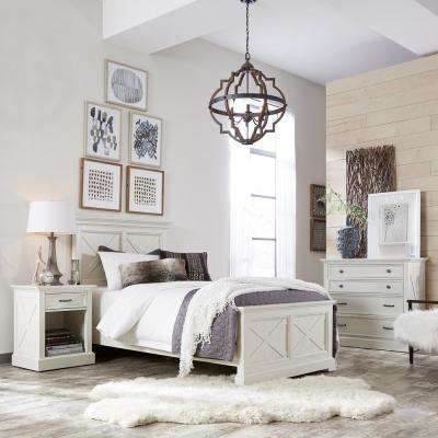 Merveilleux Seaside Lodge 2 Piece Hand Rubbed White Twin Bedroom Set
