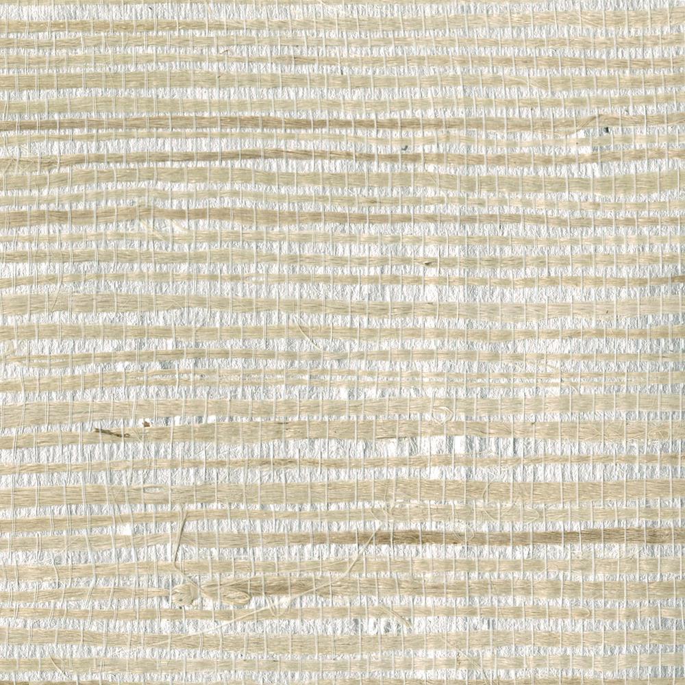 Han Me Silver Foil Grass Wallpaper Sample