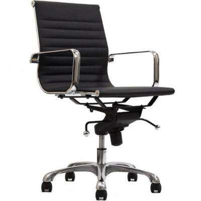 Delancey Mid-Back Adjustable Black Office Chair