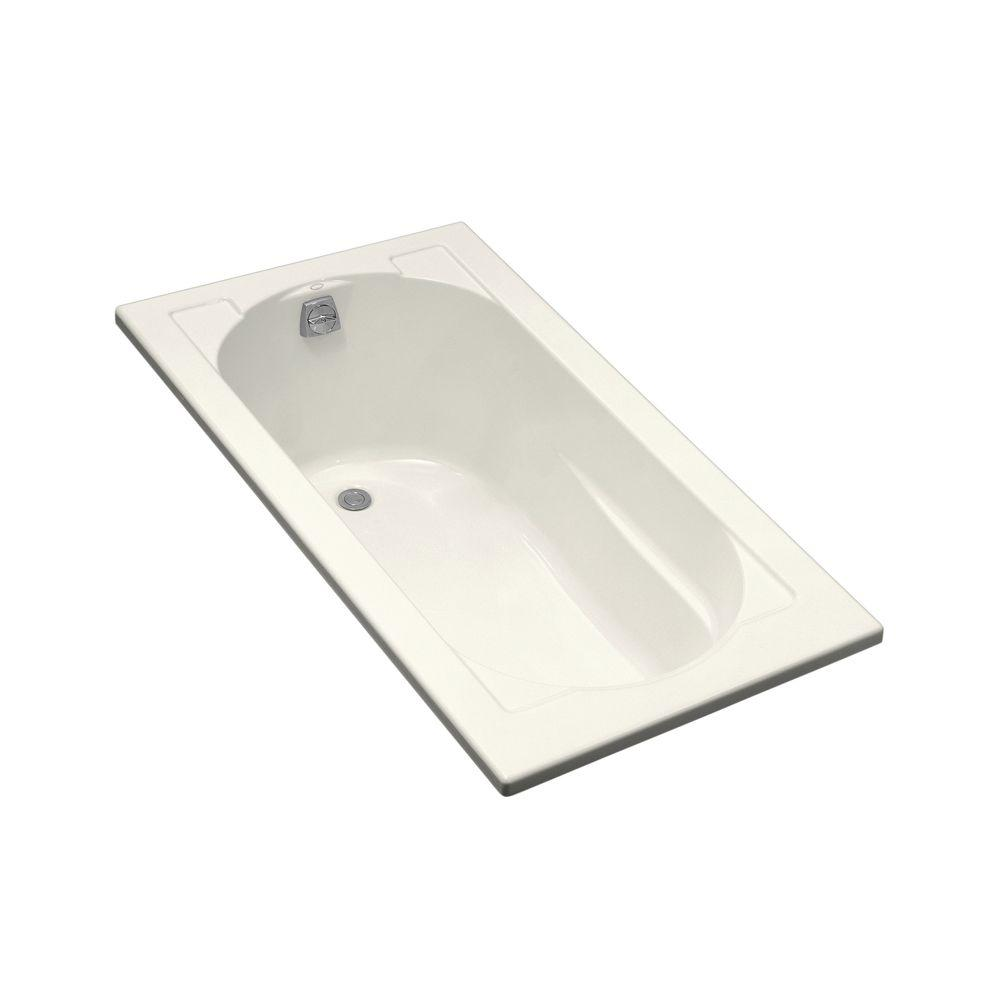 Devonshire 5 ft. Reversible Drain Drop-In Acrylic Bathtub in Biscuit