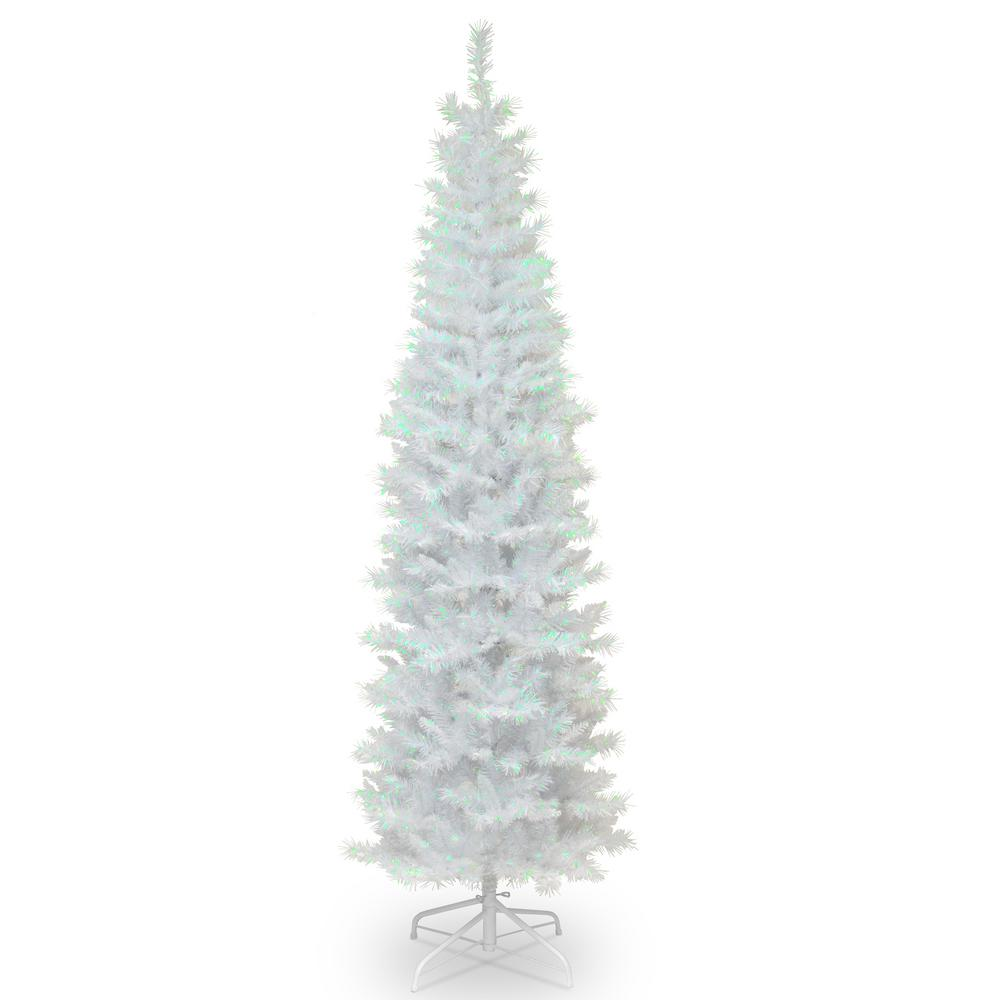 National Tree Company 7 Ft White Iridescent Tinsel Artificial