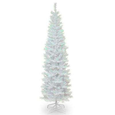 7 ft. White Iridescent Tinsel Artificial Christmas Tree