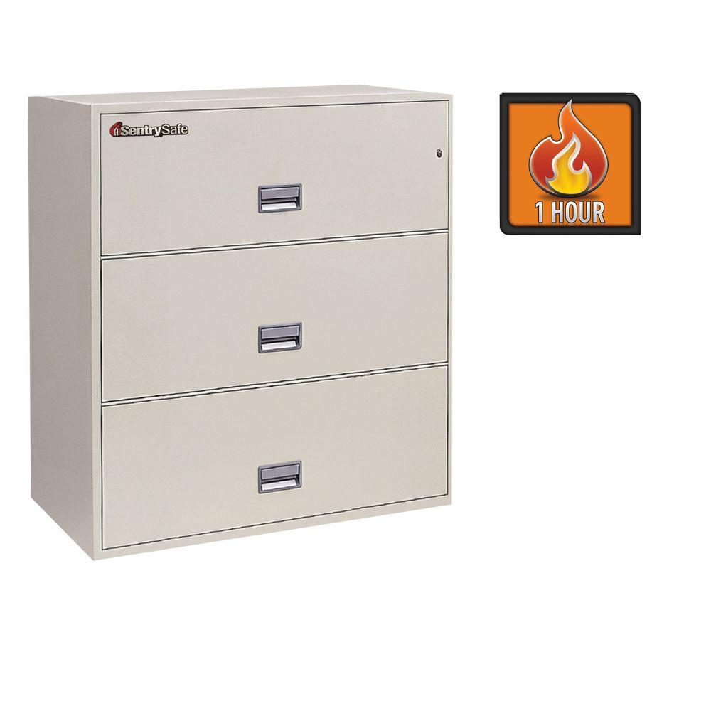 SentrySafe 3-Drawer 36 in. W Lateral Fire File in White Glove Delivery