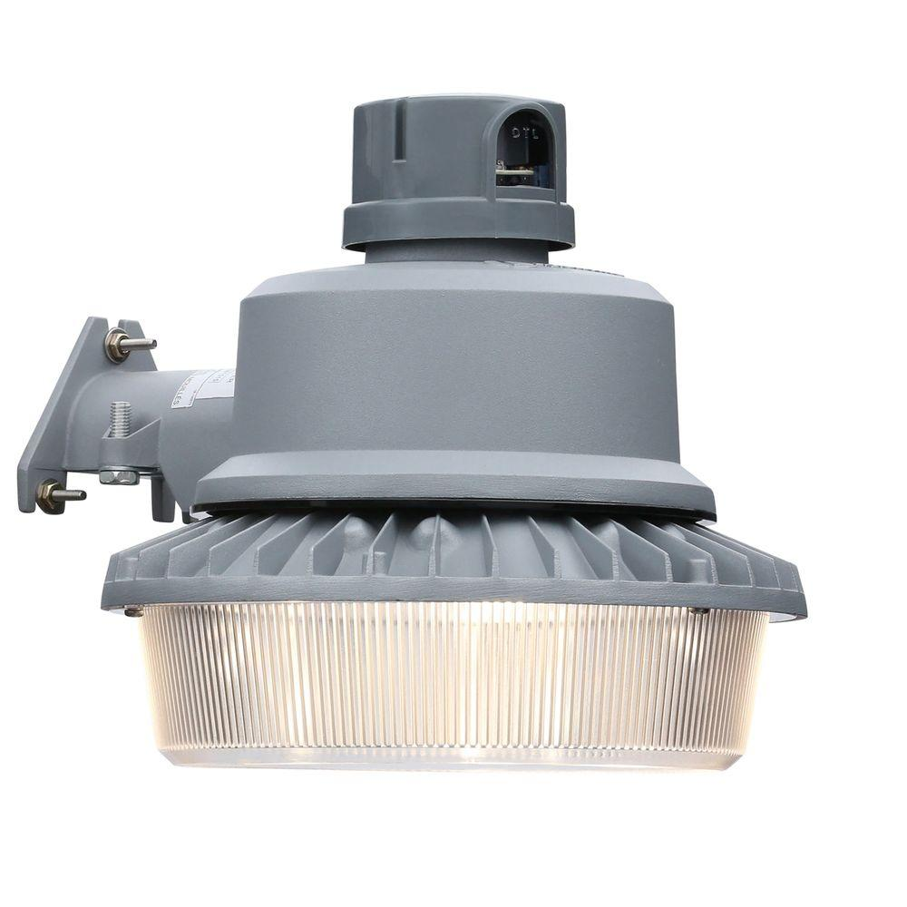 Lithonia Lighting Gray Outdoor Integrated LED 4000K Area Light With Dusk To  Dawn Photocell OLAL2 LED P1 40K 120 PER DNA HP17 M4   The Home Depot