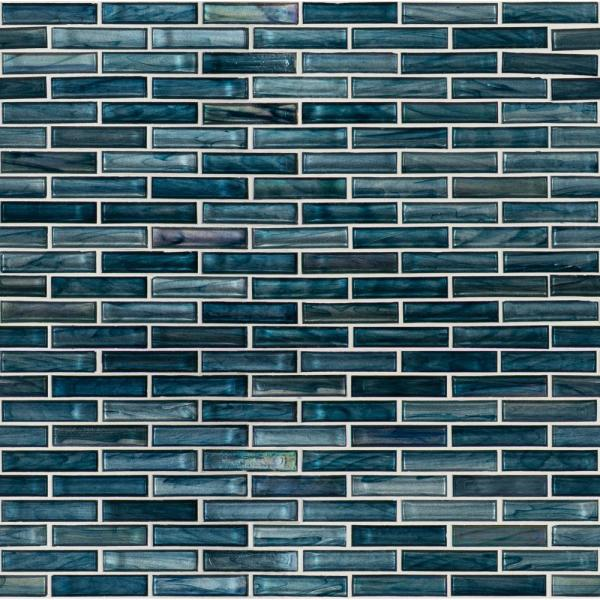 Oasis Blast 12 in. x 12 in. x 6mm Glass Mesh-Mounted Mosaic Tile (15 sq. ft./Case)