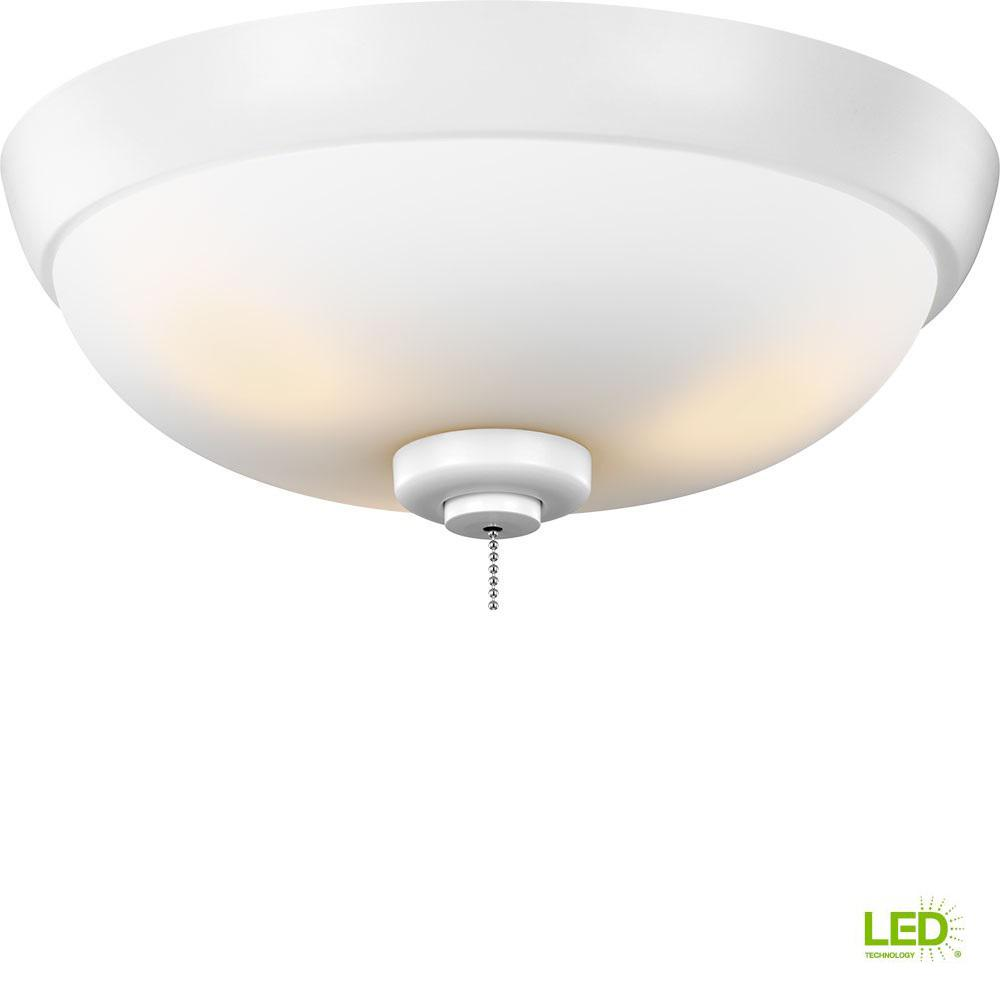 Monte Carlo 3-Light Outdoor LED Ceiling Fan Light Kit-MC244WH - The ...